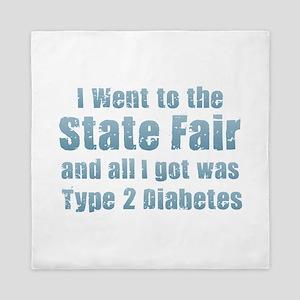 State Fair Type 2 Diabetes Queen Duvet