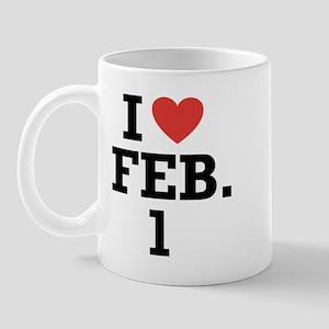 I Heart February 1 Mug