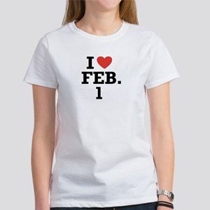I Heart February 1 Women's T-Shirt
