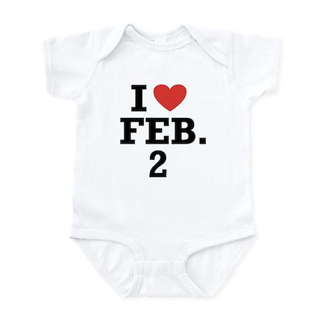 I Heart February 2 Infant Bodysuit