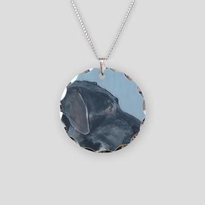 SQ BlackLab Necklace Circle Charm