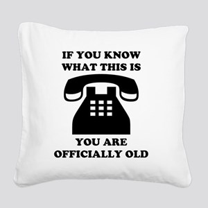 2000x2000oldphone Square Canvas Pillow