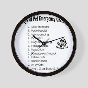 Pet ER Cropped Wall Clock