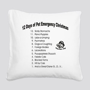 Pet ER Cropped Square Canvas Pillow