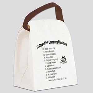 Pet ER Cropped Canvas Lunch Bag