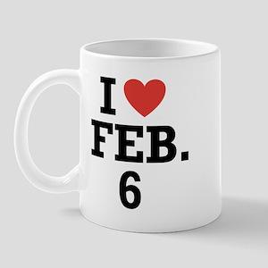I Heart February 6 Mug