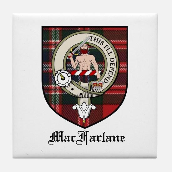MacFarlane Clan Crest Tartan Tile Coaster