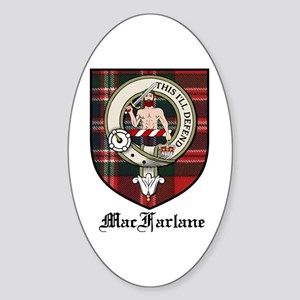 MacFarlane Clan Crest Tartan Oval Sticker