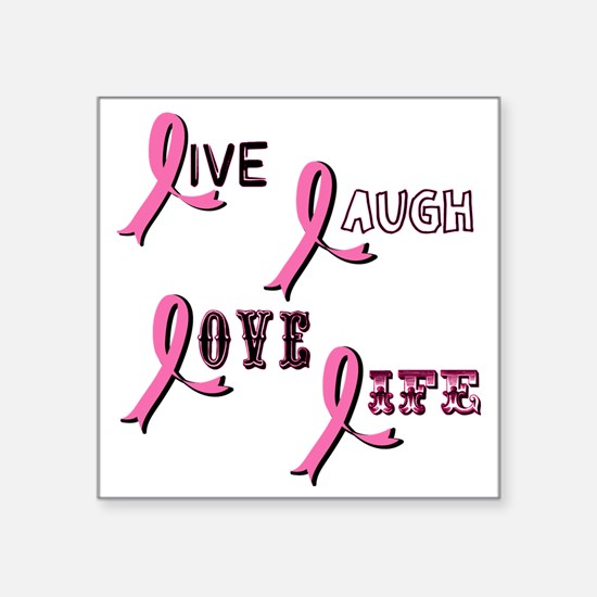 "BREAST-CANCER-AWARENESS-2 Square Sticker 3"" x 3"""