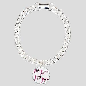 BREAST-CANCER-AWARENESS- Charm Bracelet, One Charm