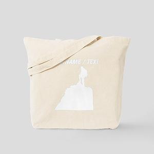 Custom Hiker Silhouette Tote Bag