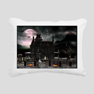 haunted_house_192_H_F Rectangular Canvas Pillow
