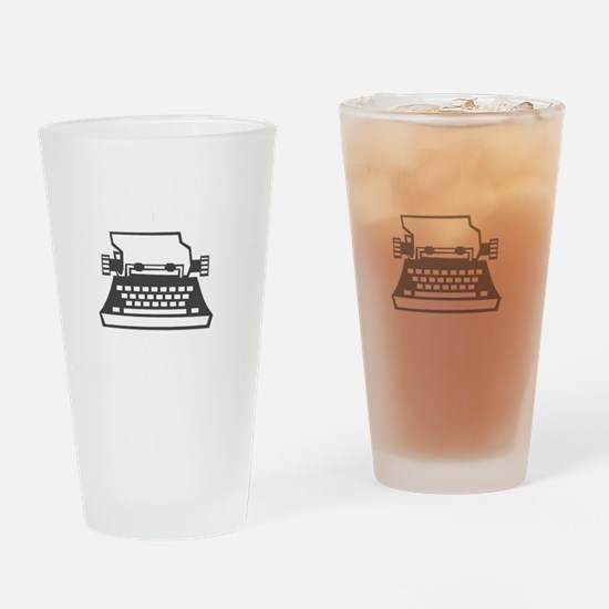 2000x2000oldtypewriter3clear Drinking Glass
