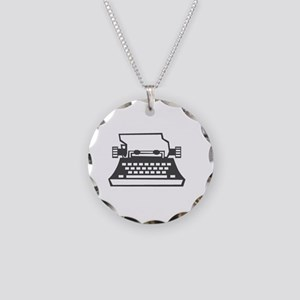 2000x2000oldtypewriter3clear Necklace Circle Charm