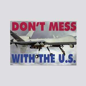 Mil 11A  MG-S Reaper Dont mess co Rectangle Magnet