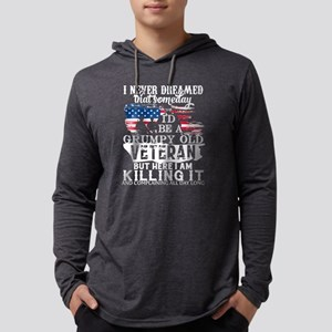 I'm A Grumpy Old Veteran T Shi Long Sleeve T-Shirt