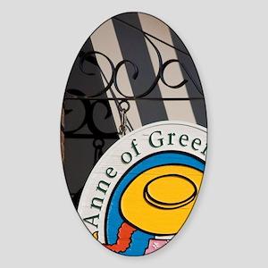 Charlottetown. The Anne of Green Ga Sticker (Oval)