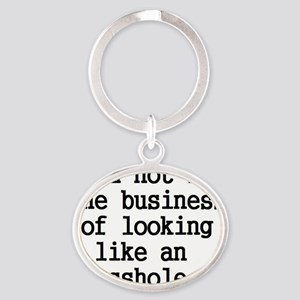 the business Oval Keychain