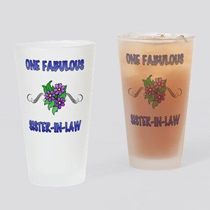 3Flowers_SisterInLaw Drinking Glass