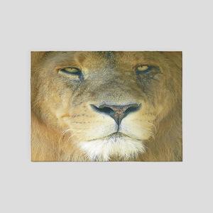Lion Lposter 5'x7'Area Rug