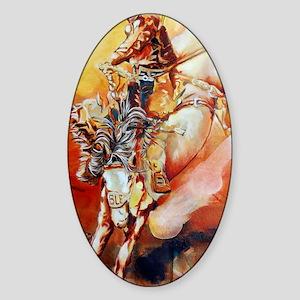 cowboyride001 Sticker (Oval)
