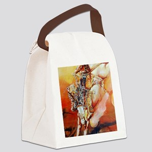 cowboyride001 Canvas Lunch Bag