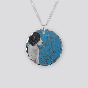 SQ Springer Necklace Circle Charm