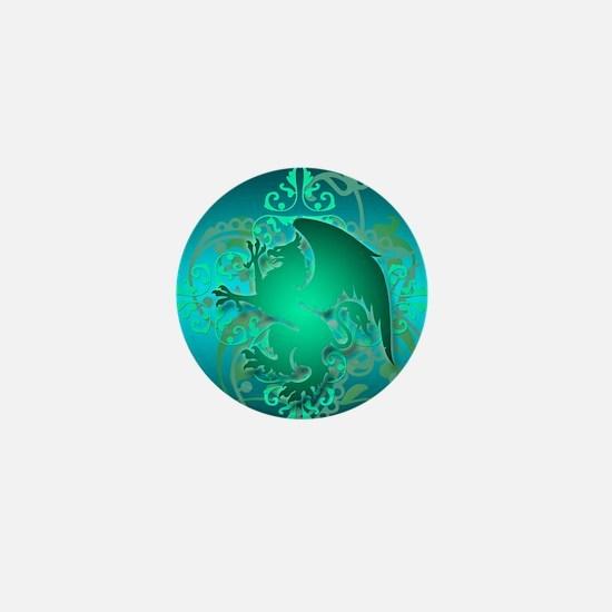 urban griffin teal Mini Button