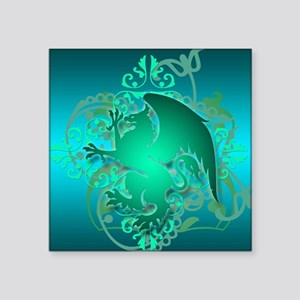 "urban griffin teal Square Sticker 3"" x 3"""
