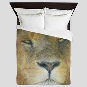 Lion round Queen Duvet