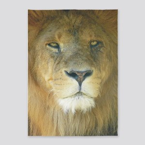 Lion pposter 5'x7'Area Rug