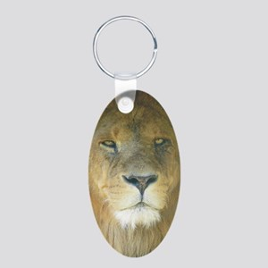 Lion pposter Aluminum Oval Keychain
