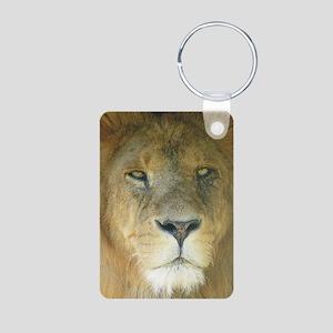 Lion journal Aluminum Photo Keychain