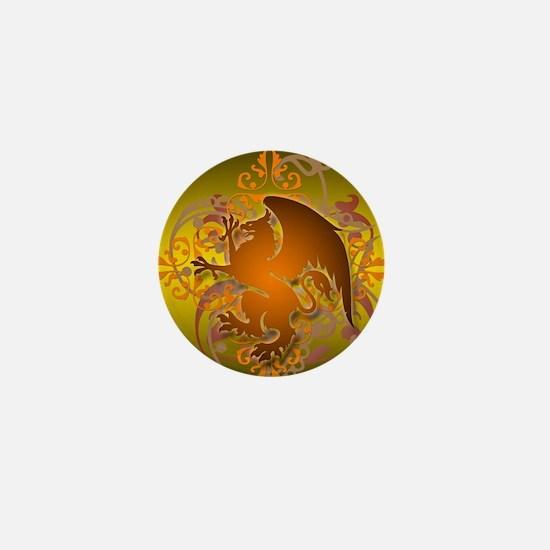 urban griffin orange tie die Mini Button