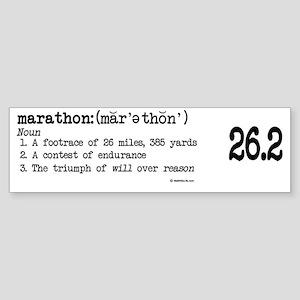 Marathon Definition mug Sticker (Bumper)