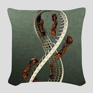 EscherLargeResized Woven Throw Pillow