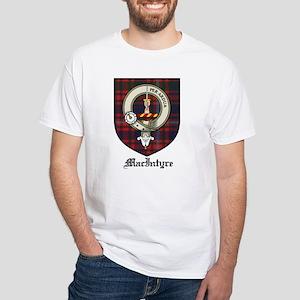 MacIntyre Clan Crest Tartan White T-Shirt