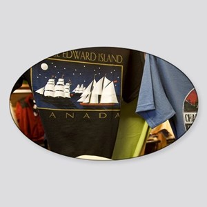 Charlottetown. Souvenir t-shirtsarl Sticker (Oval)