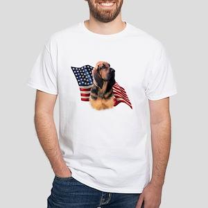 Bloodhound Flag White T-Shirt