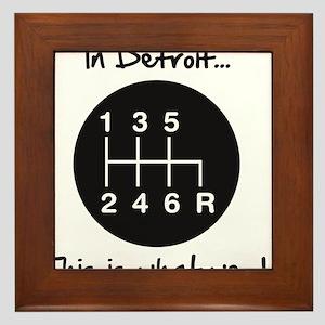 detroit Framed Tile