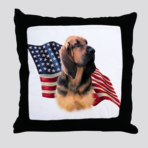 Bloodhound Flag Throw Pillow