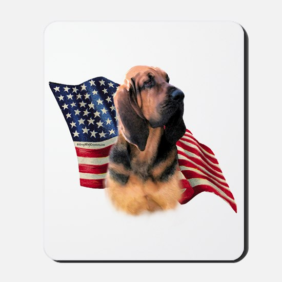 Bloodhound Flag Mousepad