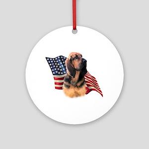Bloodhound Flag Ornament (Round)