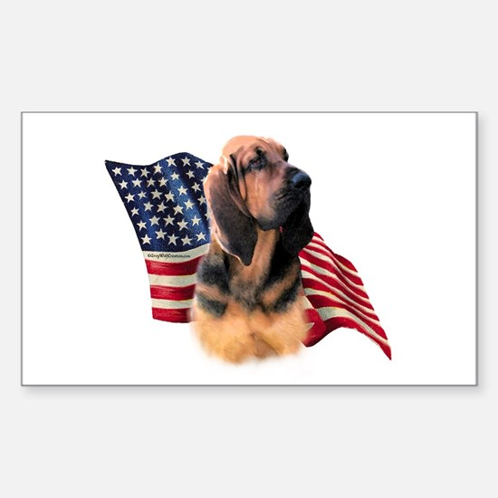 Bloodhound Flag Rectangle Decal