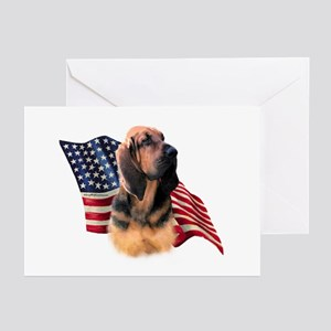 Bloodhound Flag Greeting Cards (Pk of 10)