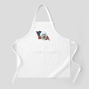 Bichon Flag BBQ Apron