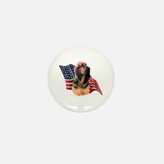 Bloodhound Flag Mini Button