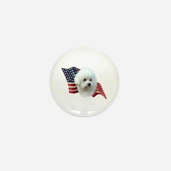 Bichon Flag Mini Button
