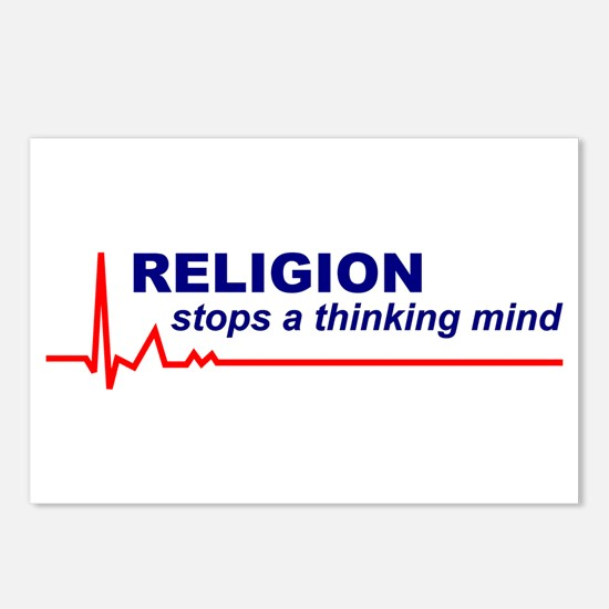 8 Religion Stops a Thinking Mind Postcards