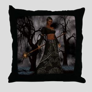 voodoo priestess Throw Pillow